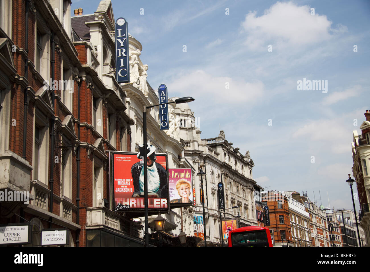 Londons West End, Theatreland, Shaftesbury Avenue, London, England, UK - Stock Image