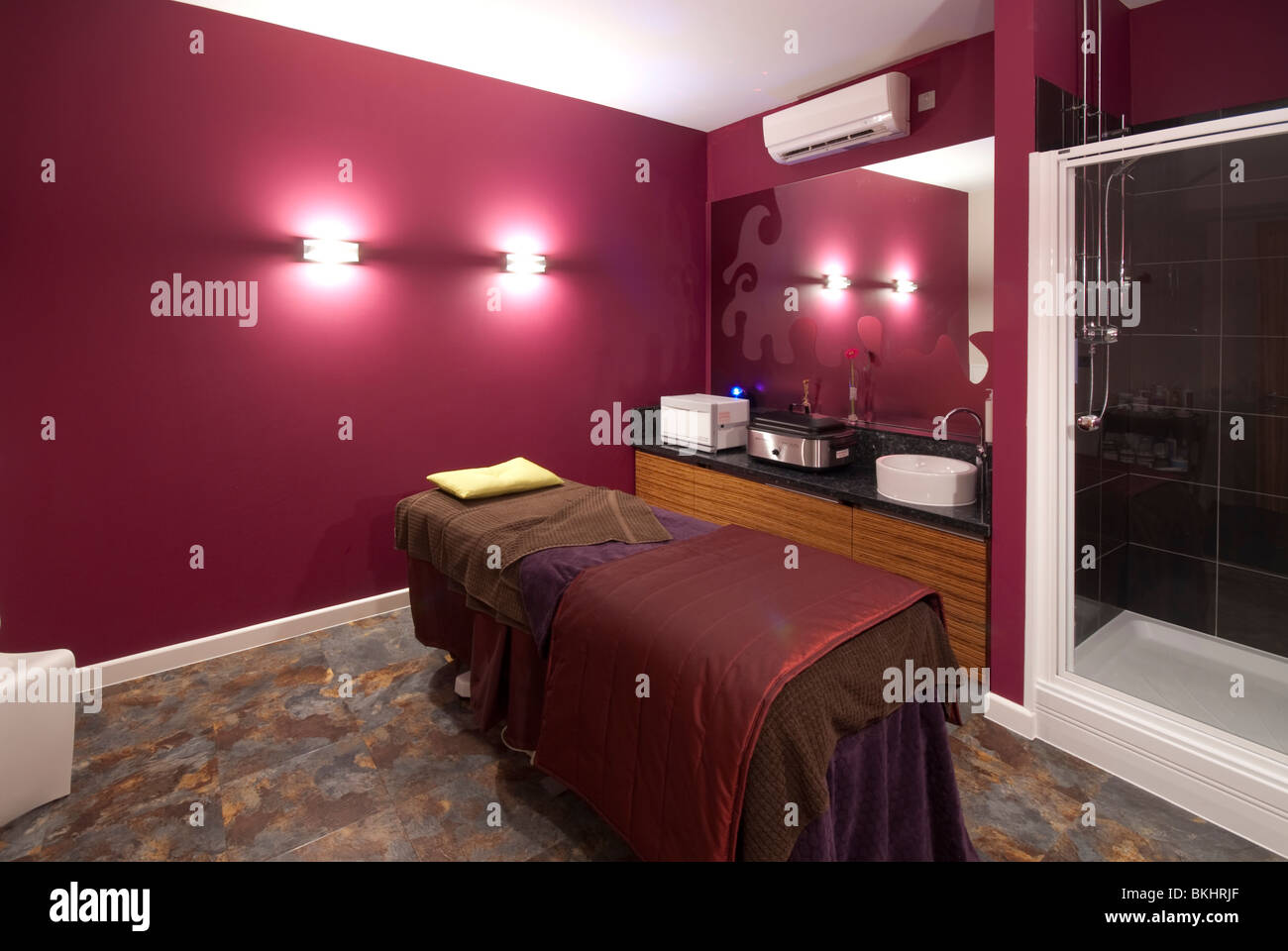 massage and therapy room in spa of Ocean Hotel, Butlins Bognor Regis - Stock Image