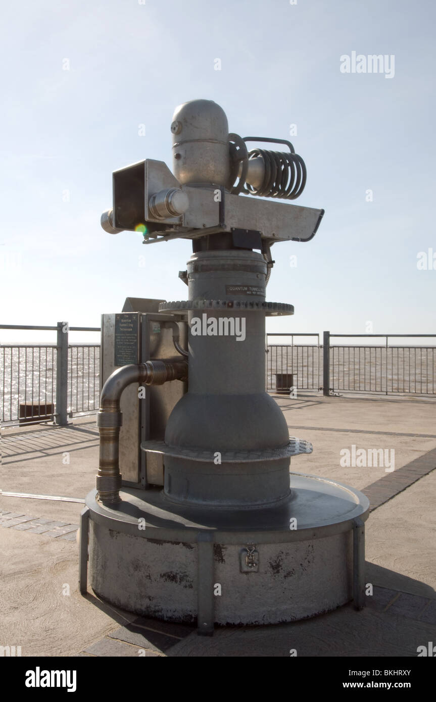 The Quantum Telescope situated on Southwold Pier Suffolk East Anglia Sponsored by the European Onion - Stock Image