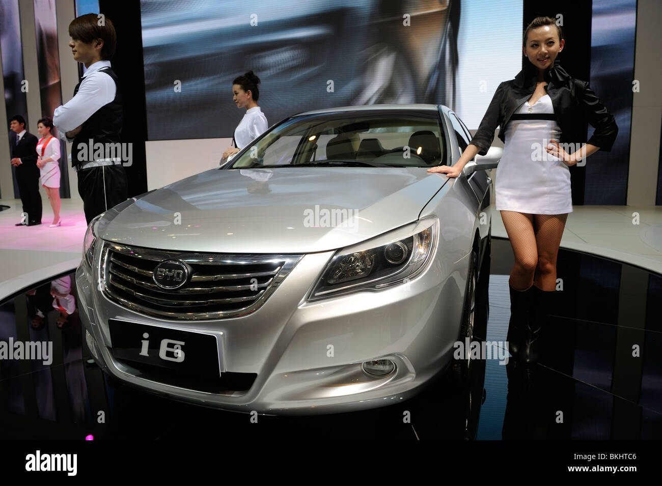 BYD L3 at the Beijing Auto Show 2010. Stock Photo