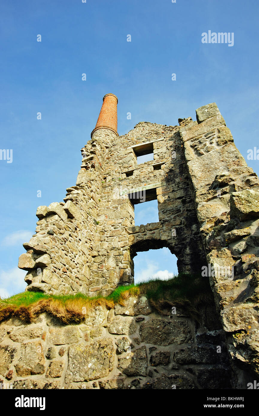 Carn Galver engine house, near Pendeen, Cornwall, UK - Stock Image