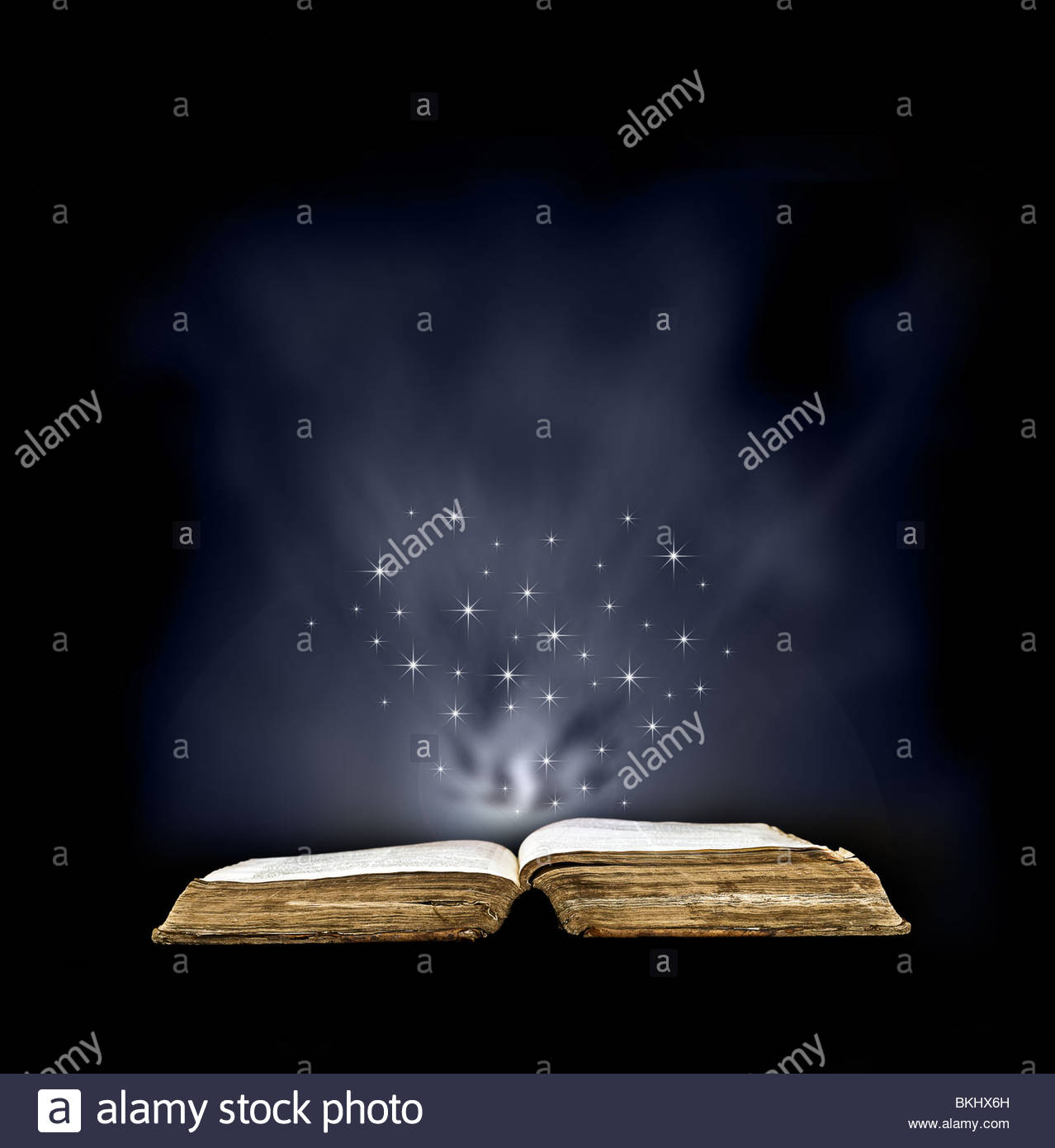 Magic book - Stock Image