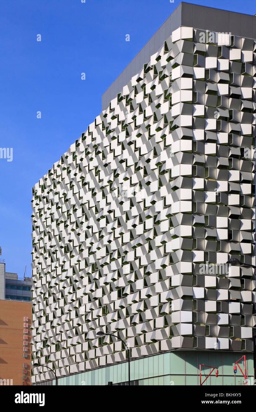 The 'Cheese Grater' multistory car park, St Paul's development, Sheffield, South Yorkshire, England, - Stock Image