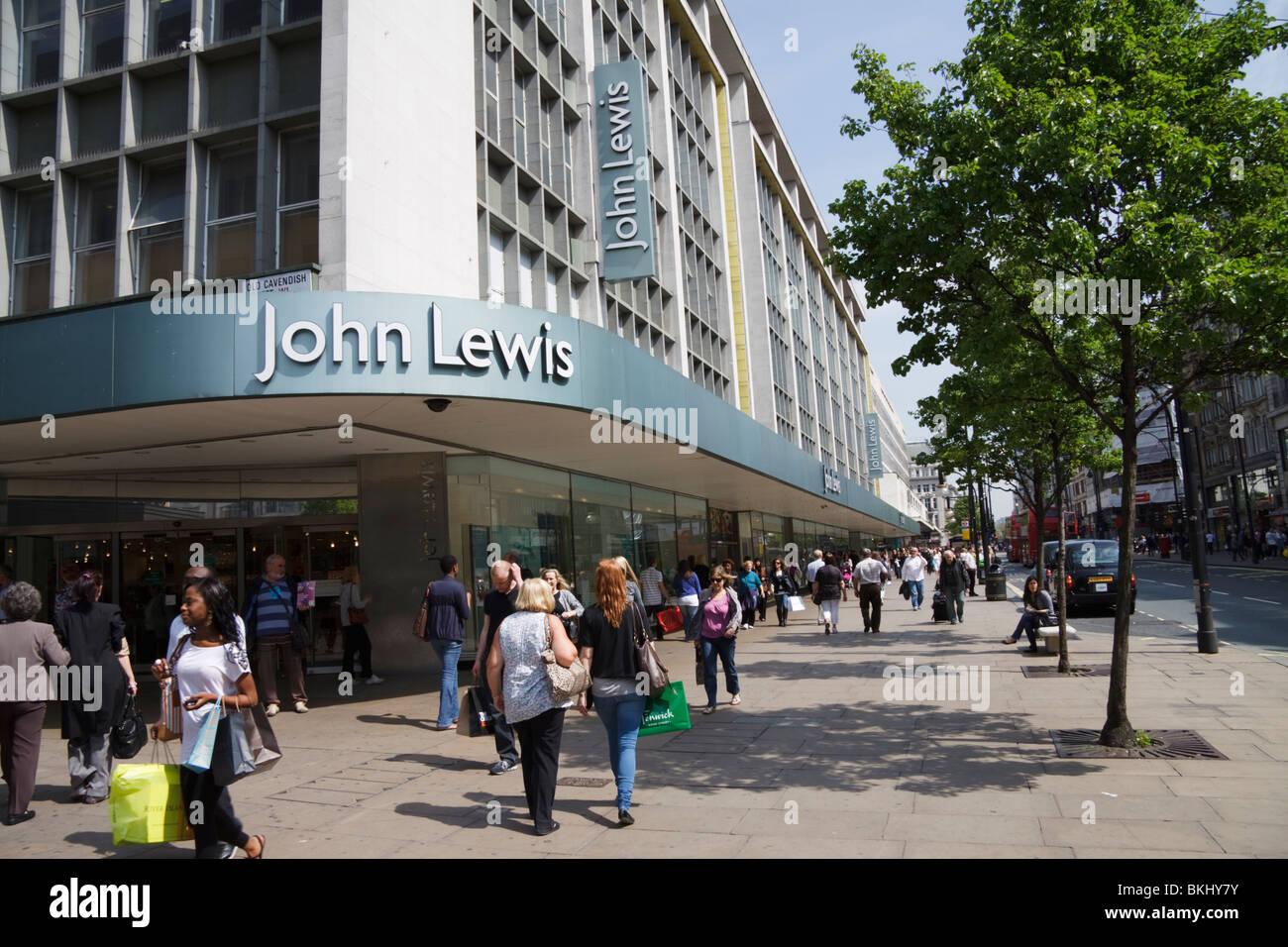 People shopping John Lewis department store/shop, Oxford Street, London, England, UK - Stock Image