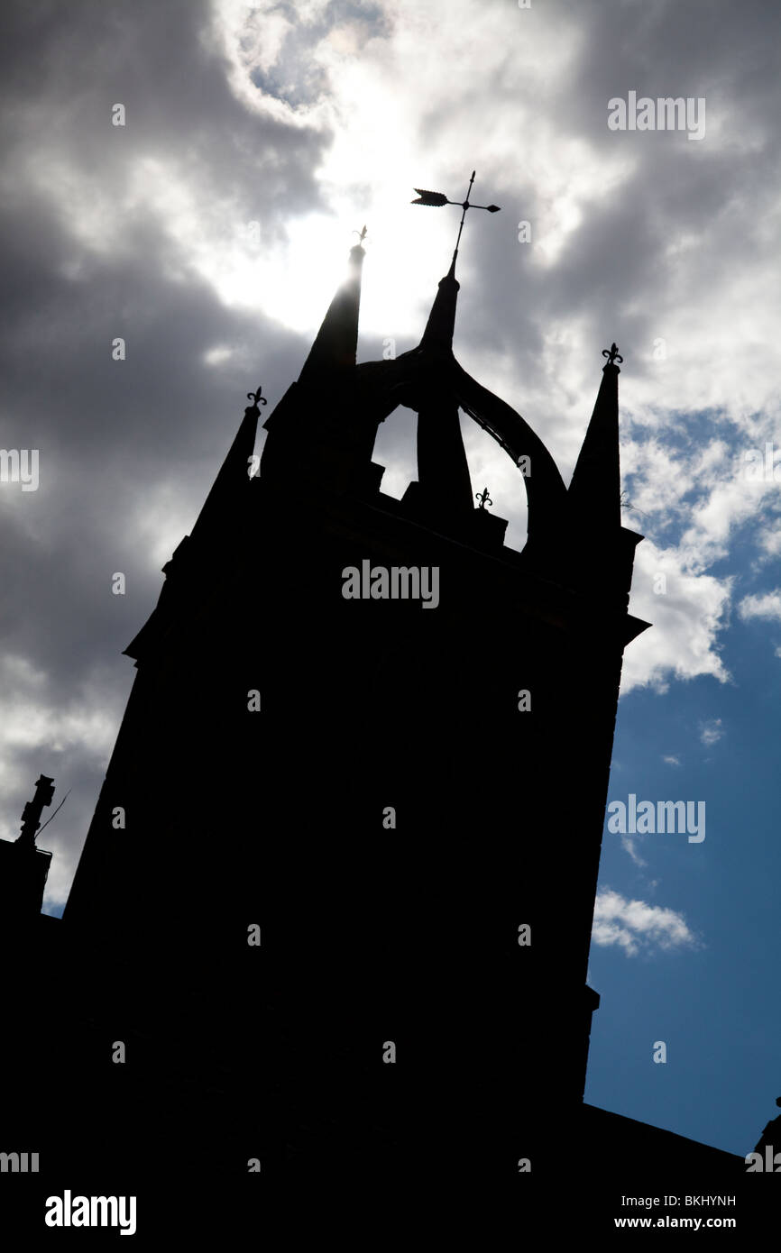 Tillington Church with it's Scots Crown Spire Stock Photo