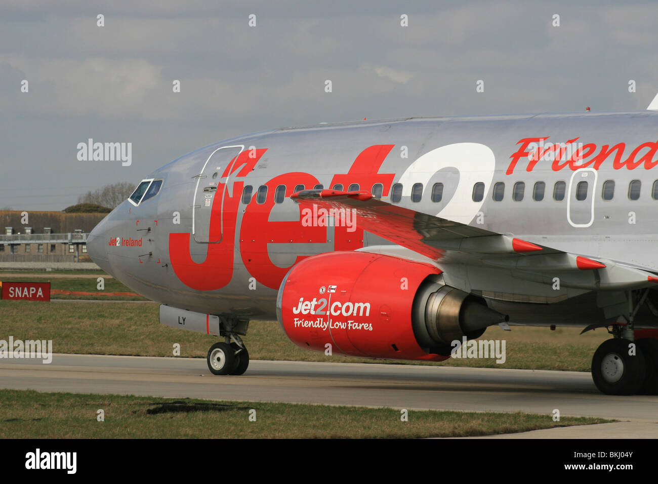 JET 2. TWO. LOW COST AIRLINE - Stock Image