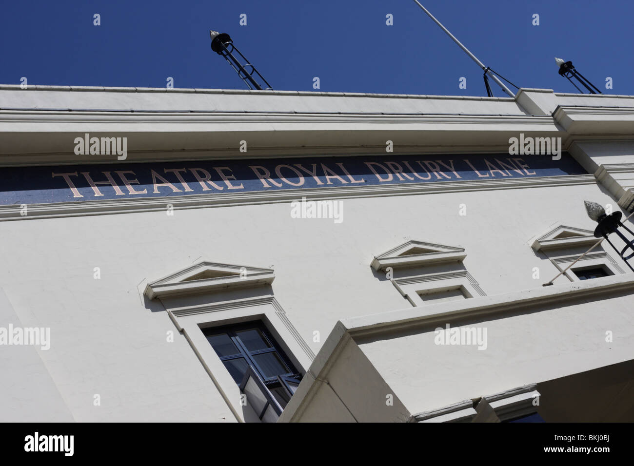 The Theatre Royal Drury Lane in Catherine Street,signage. - Stock Image