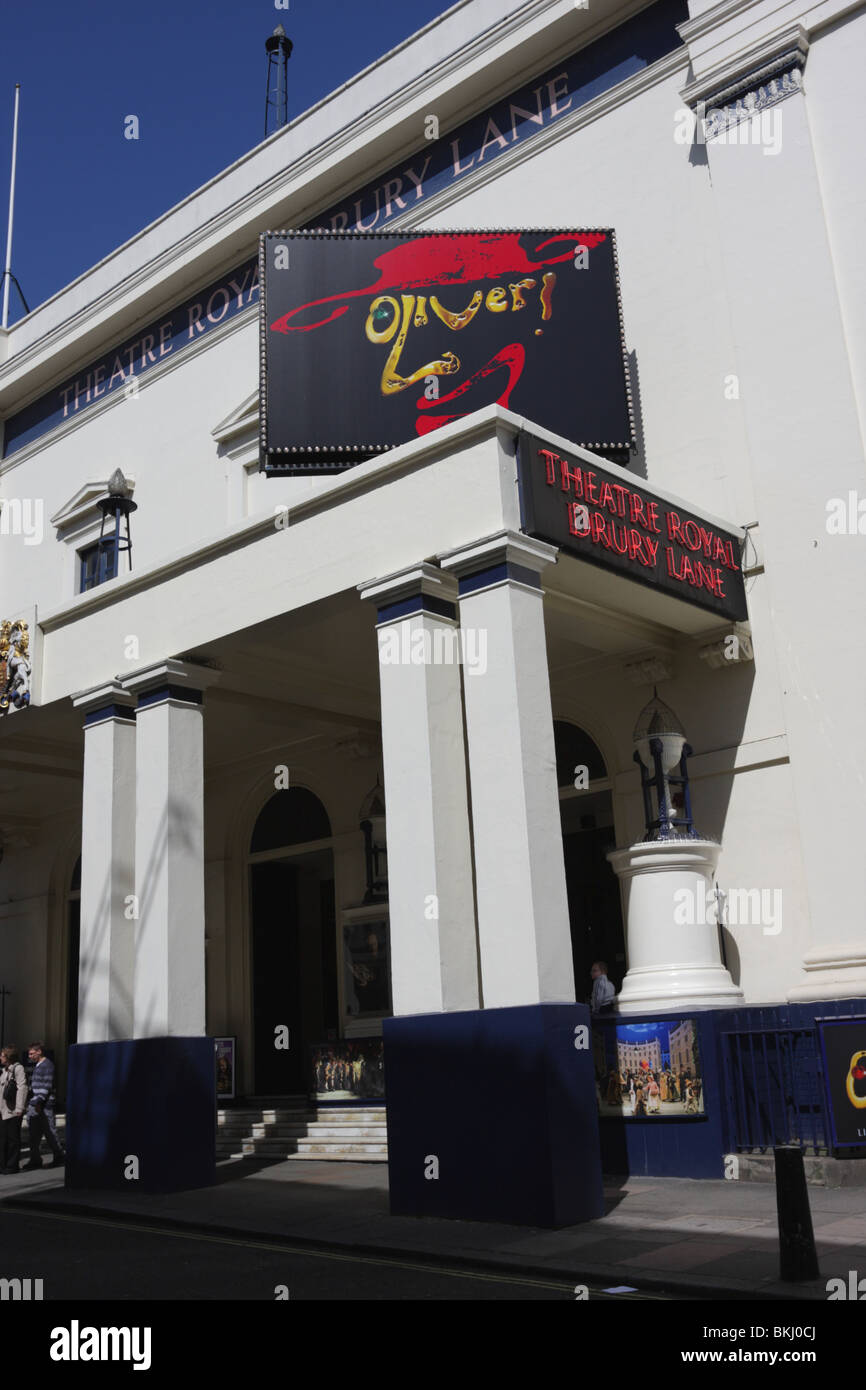 Section of main entrance to the Theatre Royal Drury Lane,London. - Stock Image