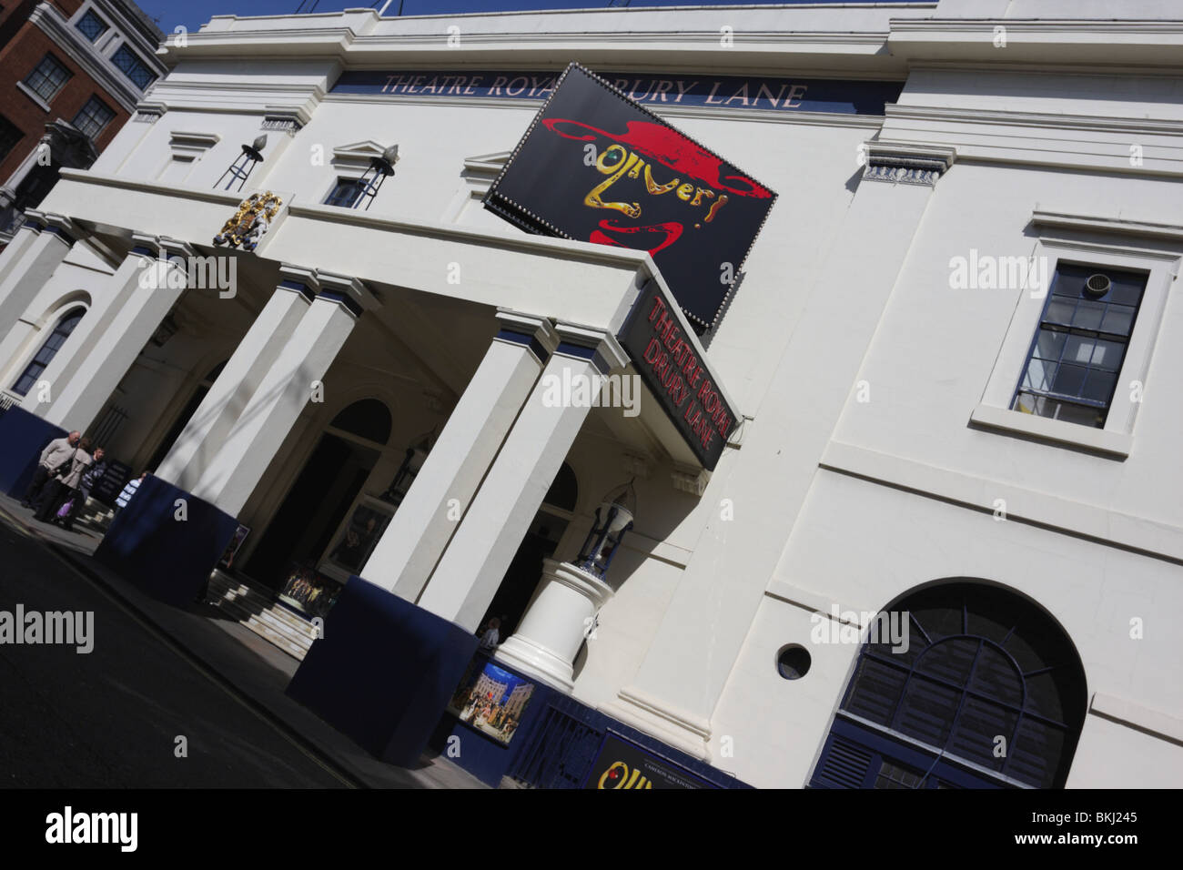 The current 19th century Theatre Royal Drury Lane,situated in Catherine Street in Covent Garden. - Stock Image
