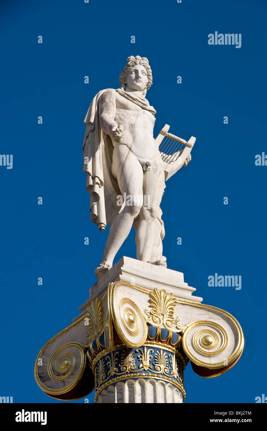 Marble Statue Of The Ancient Greek God Apollo God Of The Sun And