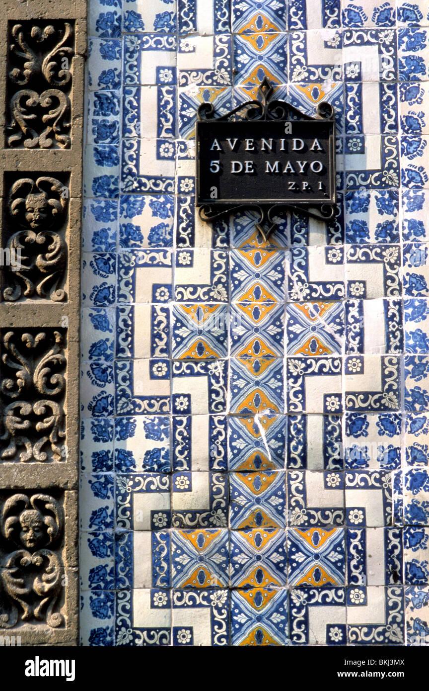 house of tiles, mexico city, mexico - Stock Image