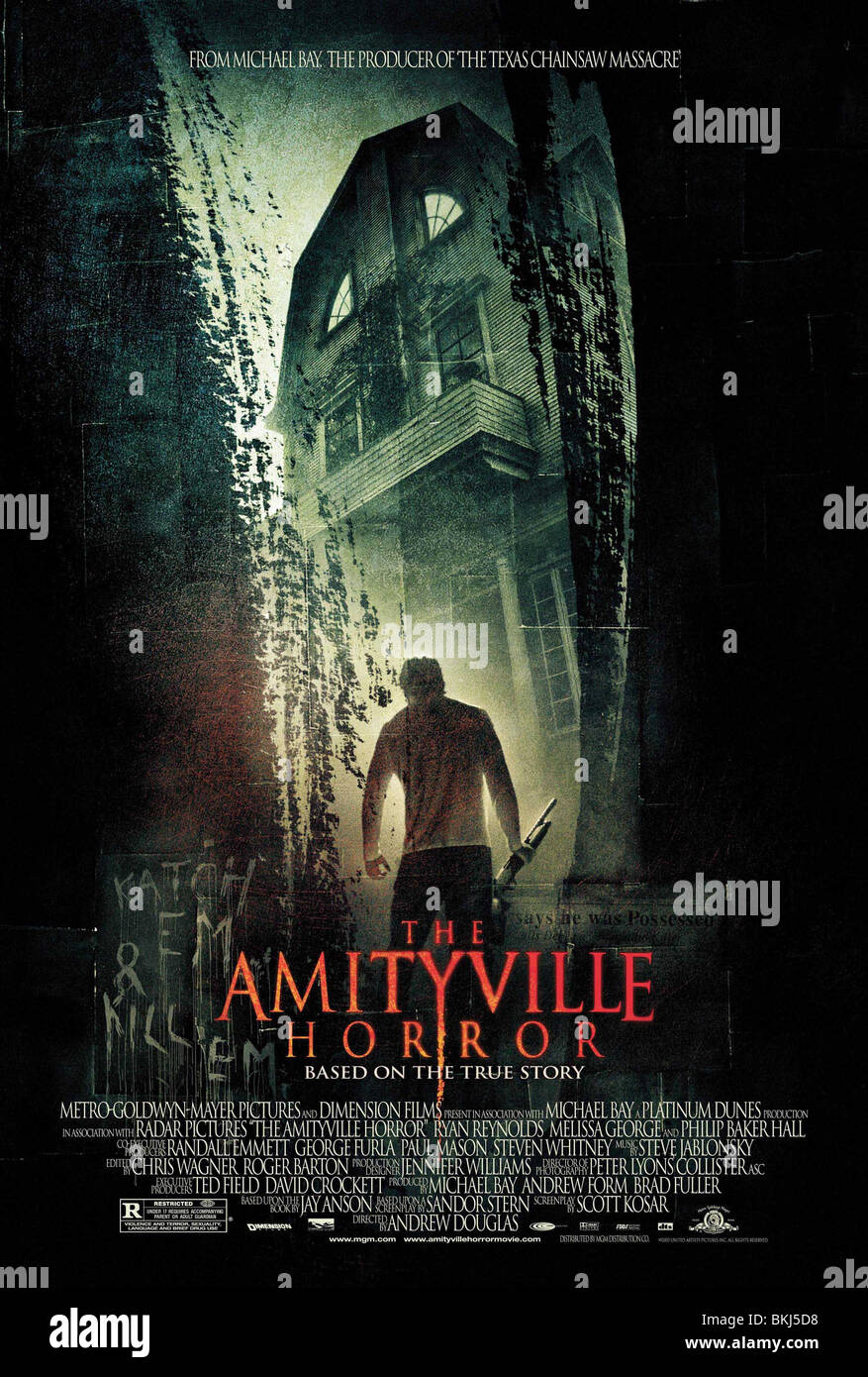 THE AMITYVILLE HORROR (2005) POSTER AMIT 001-25 - Stock Image