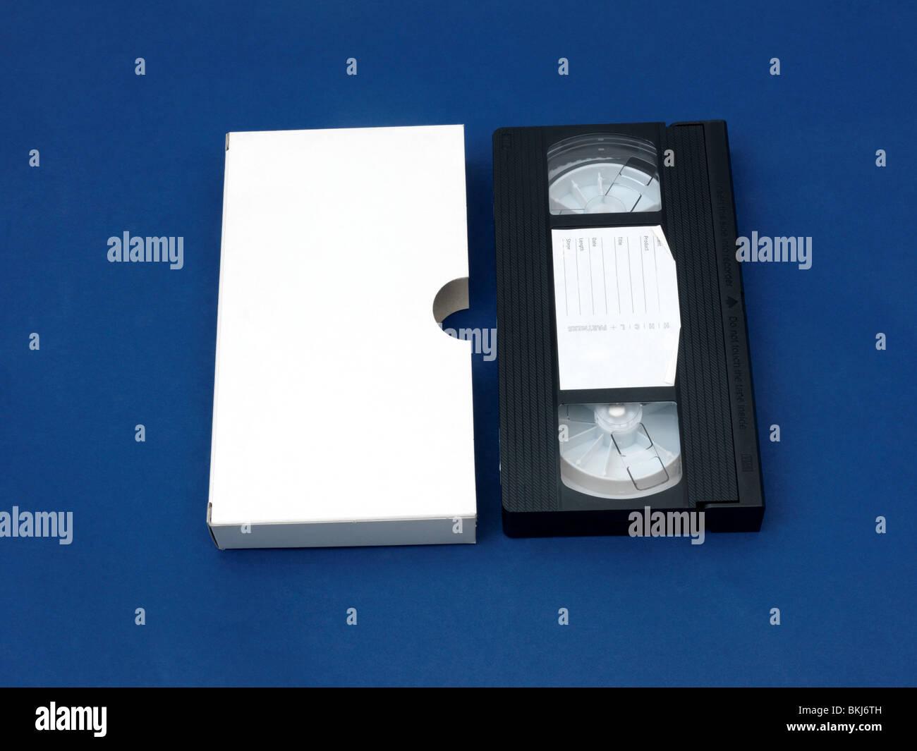 Blank Video Cassette With Cardboard Slide In Case - Stock Image