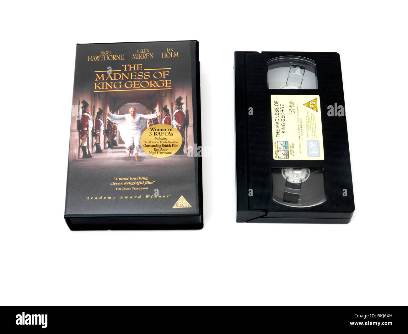 Video Cassette And Plastic Case Of The Madness Of King George - Stock Image