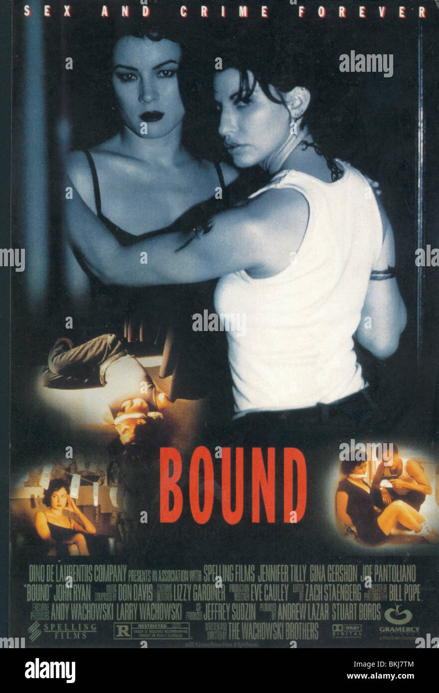 BOUND -1996 POSTER - Stock Image