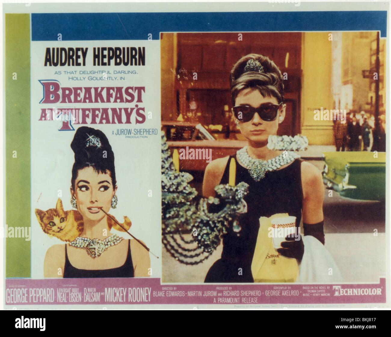 BREAKFAST AT TIFFANY'S (1961) AUDREY HEPBURN BRT 005CP - Stock Image