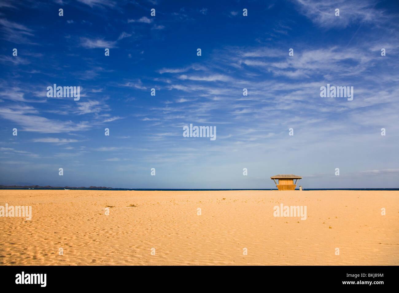 Photograph taken on Playas Grandes in Corralejos, Fuerteventura - Stock Image