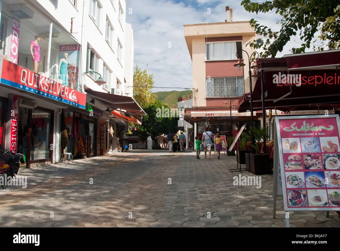 Shops & Restaurant in Marmaris Turkey Stock Photo