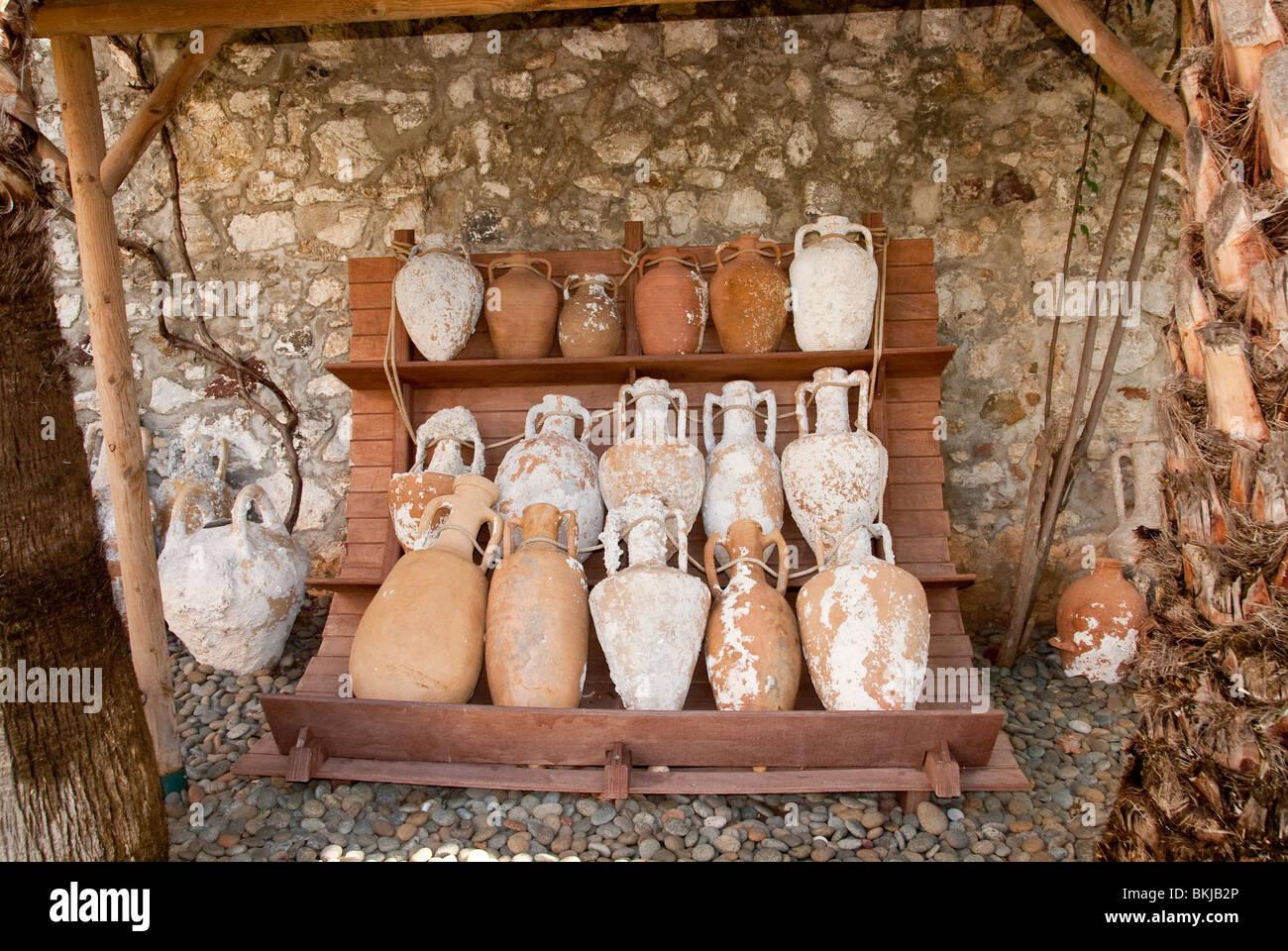 Amphora Bottles in Marmaris Castle Stock Photo