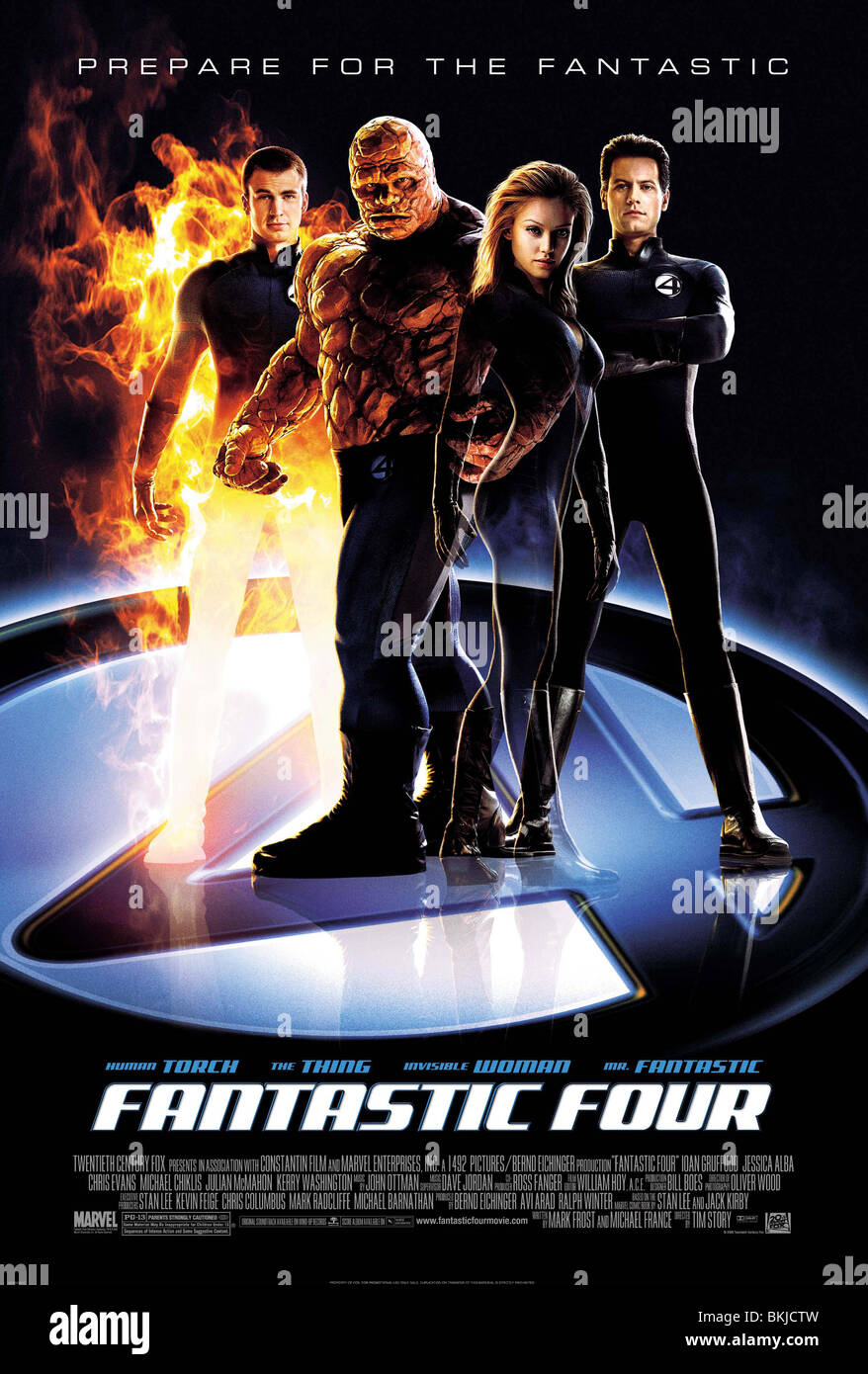 FANTASTIC FOUR -2005 POSTER - Stock Image