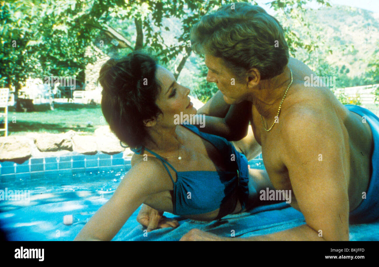 HOLLYWOOD WIVES (TV) MARY CROSBY, STEVE FORREST HLWV 002 - Stock Image
