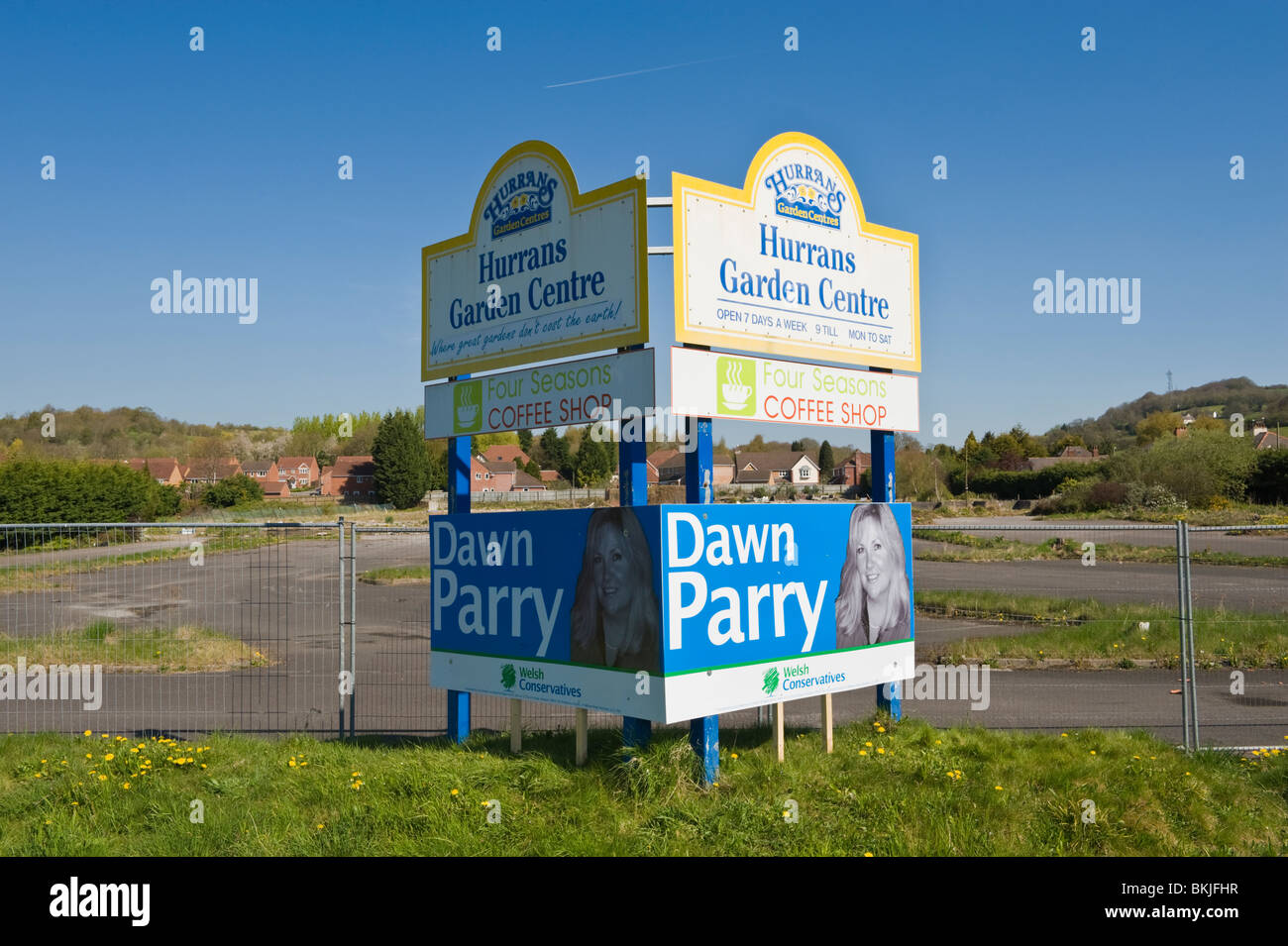 Dawn Parry Conservative Party candidate 2010 General Election poster in Newport East constituency South Wales UK - Stock Image
