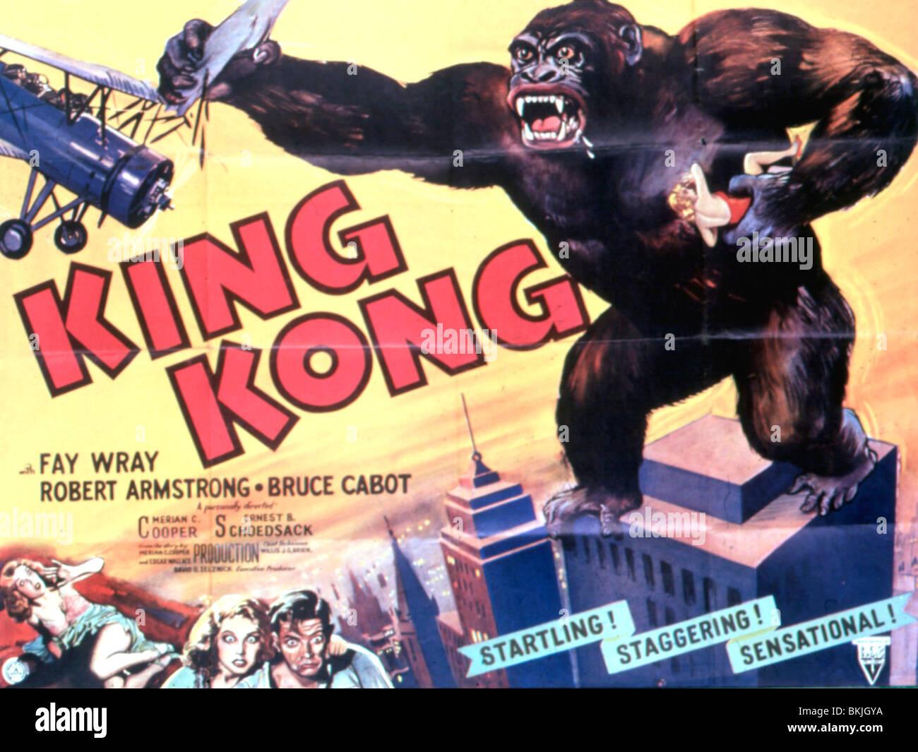 King Kong 1933 Poster Stock Photo 29297278 Alamy