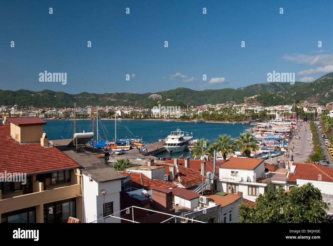 Marmaris Harbour Stock Photo