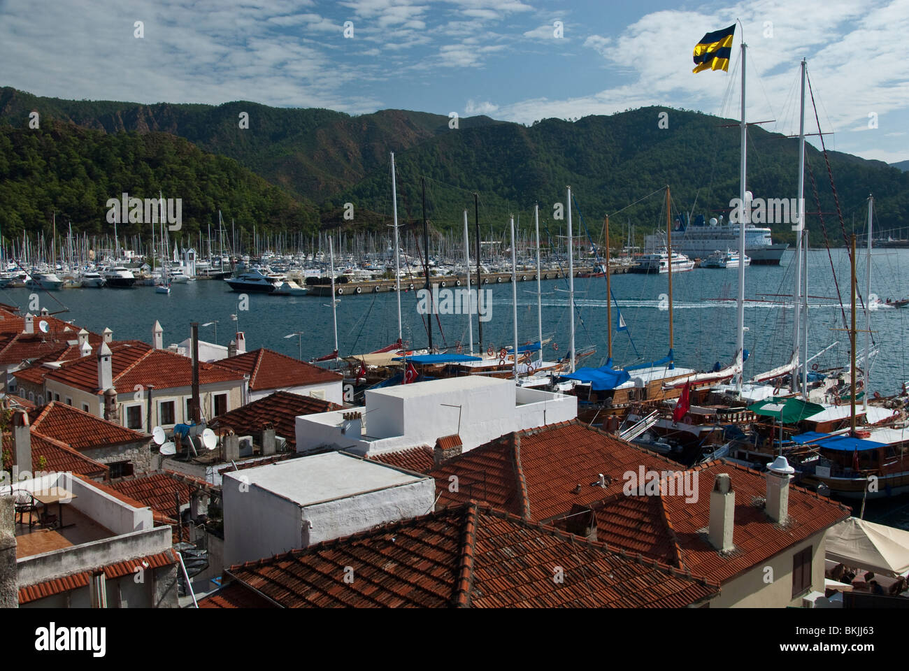 Roof Top View Of Marmaris Turkey Stock Photo