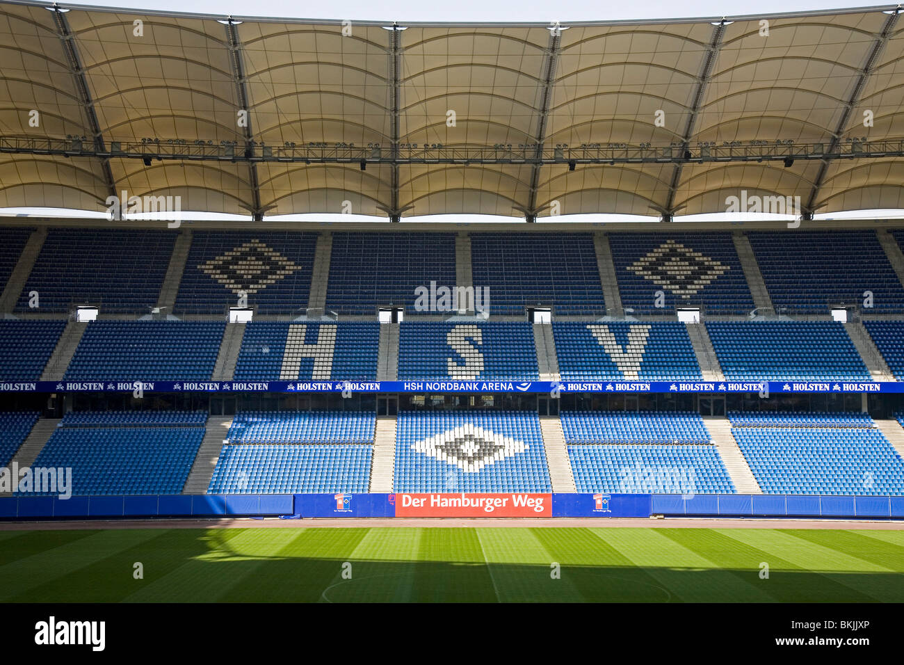 The Hamburg Arena, home stadium of SV Hamburg and the venue for the 2010 UEFA Europa League Final. - Stock Image