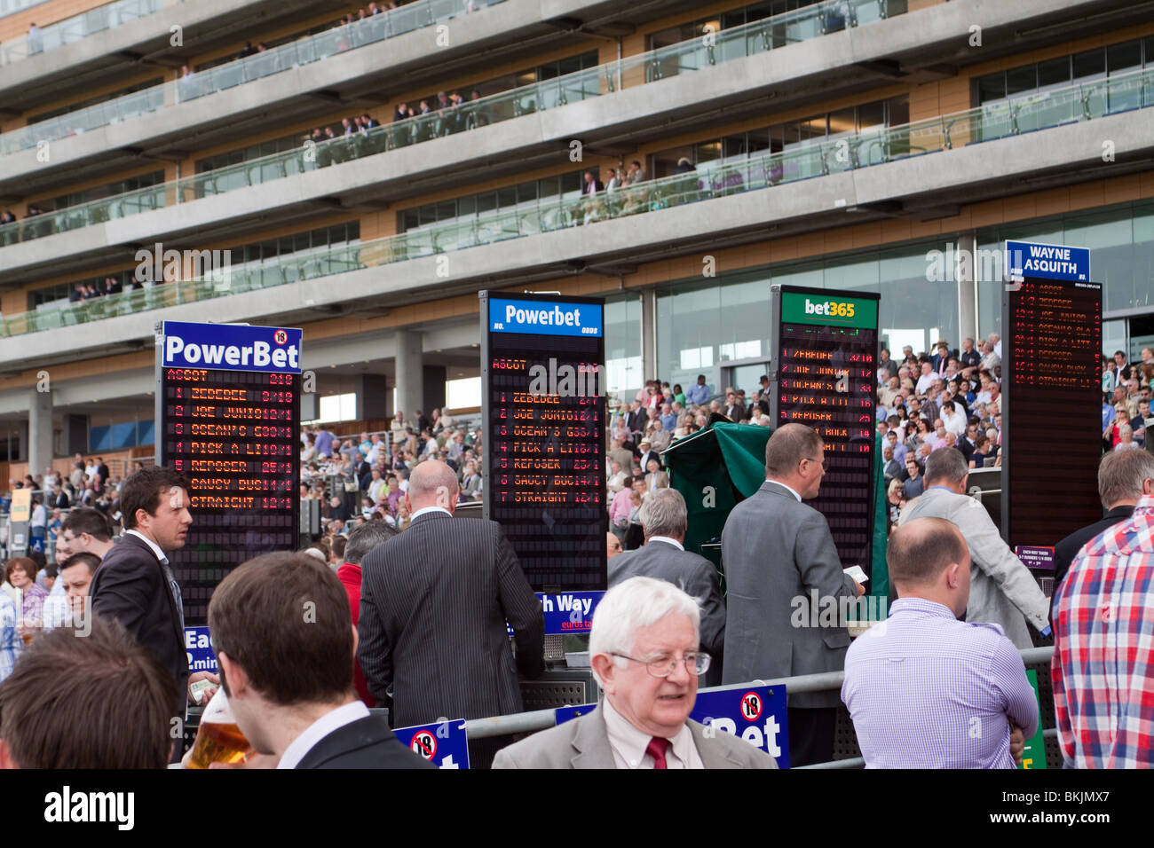 Boomakers at Ascot Racecourse on raceday - Stock Image