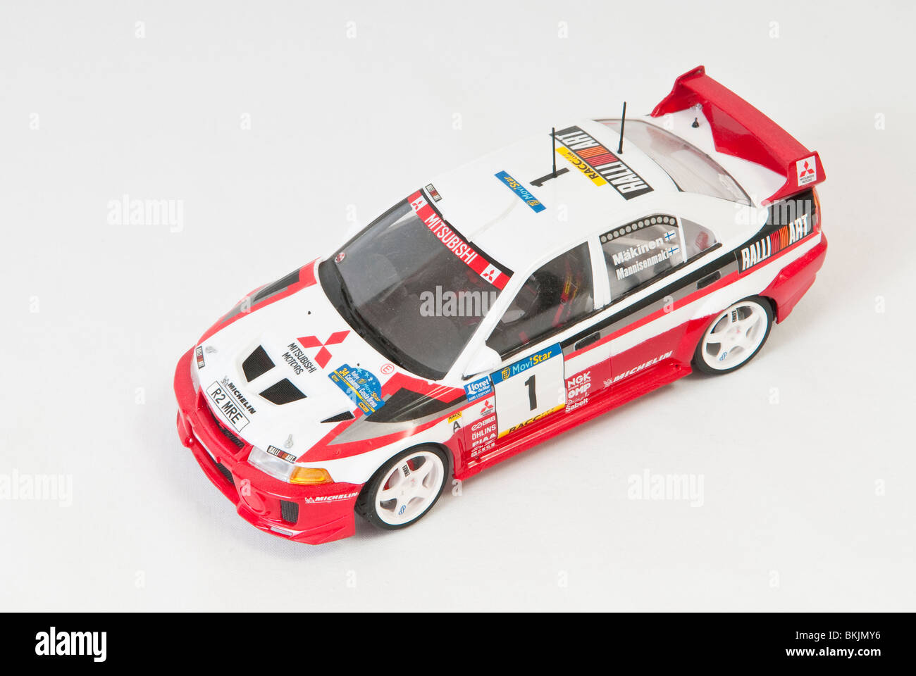 Model Of A Mitsubishi Evo 6 Rally Car Stock Photo