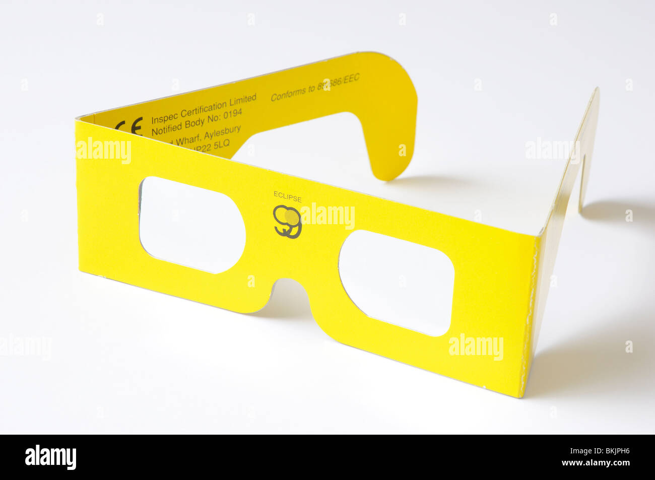 Pair of solar eclipse glasses - Stock Image