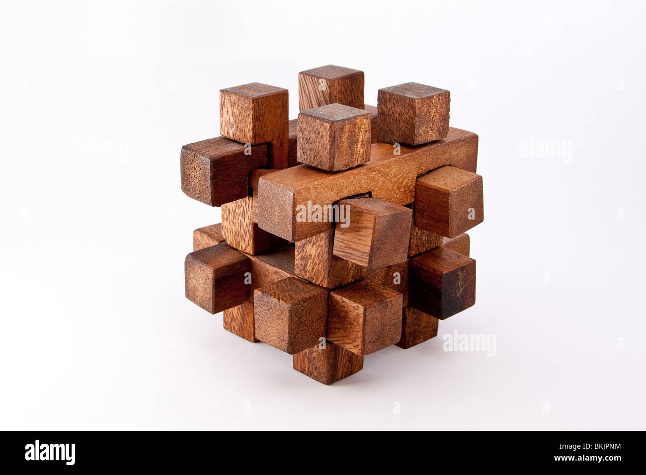 A wood made puzzle - Stock Image