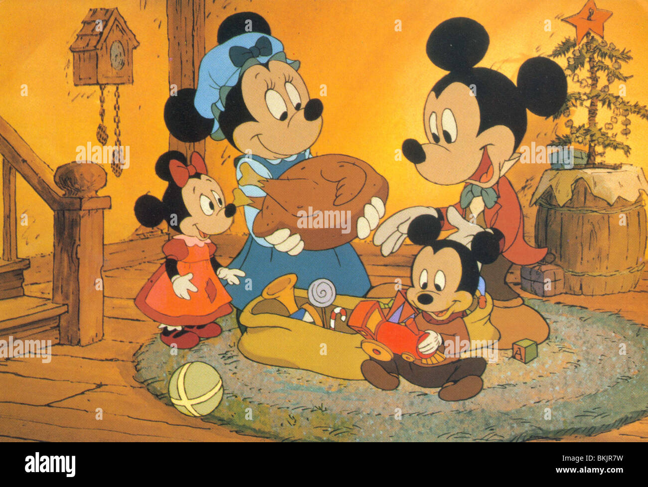 mickeys christmas carol 1983 minnie mouse mickey mouse mkcc 001foh stock image - Mickeys Christmas Carol