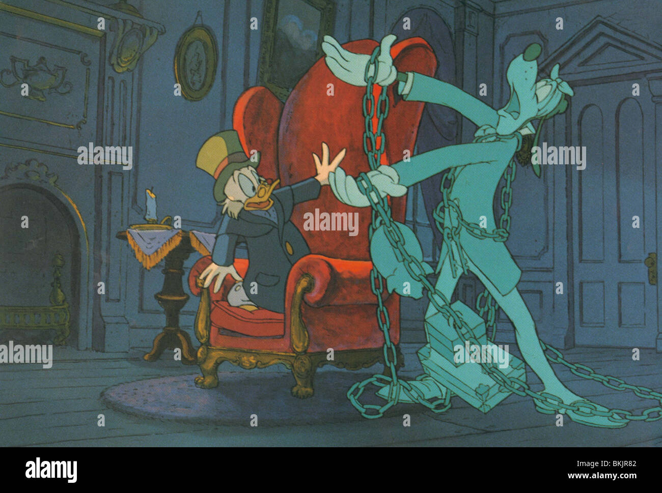 Mickeys Christmas Carol 1983 Scrooge Goofy Mkcc 003foh Stock
