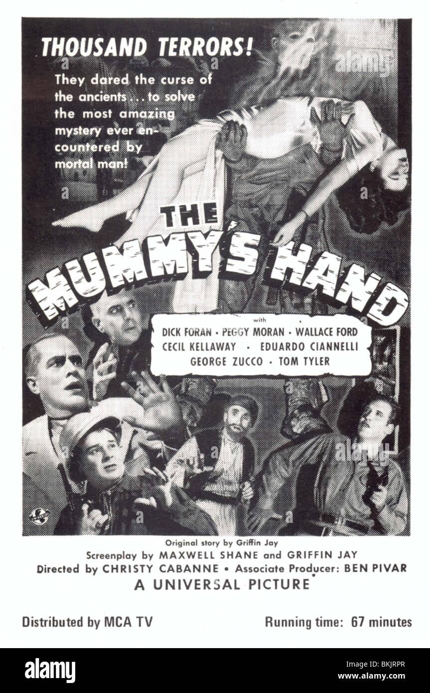 THE MUMMY'S HAND (1940) POSTER MUMY 001PK - Stock Image