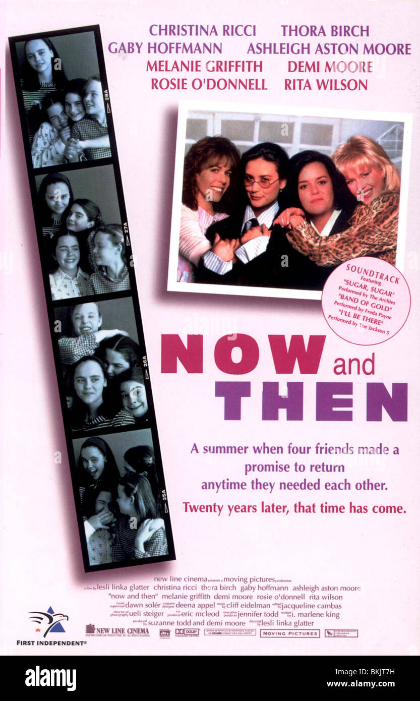 NOW AND THEN -1995 POSTER - Stock Image