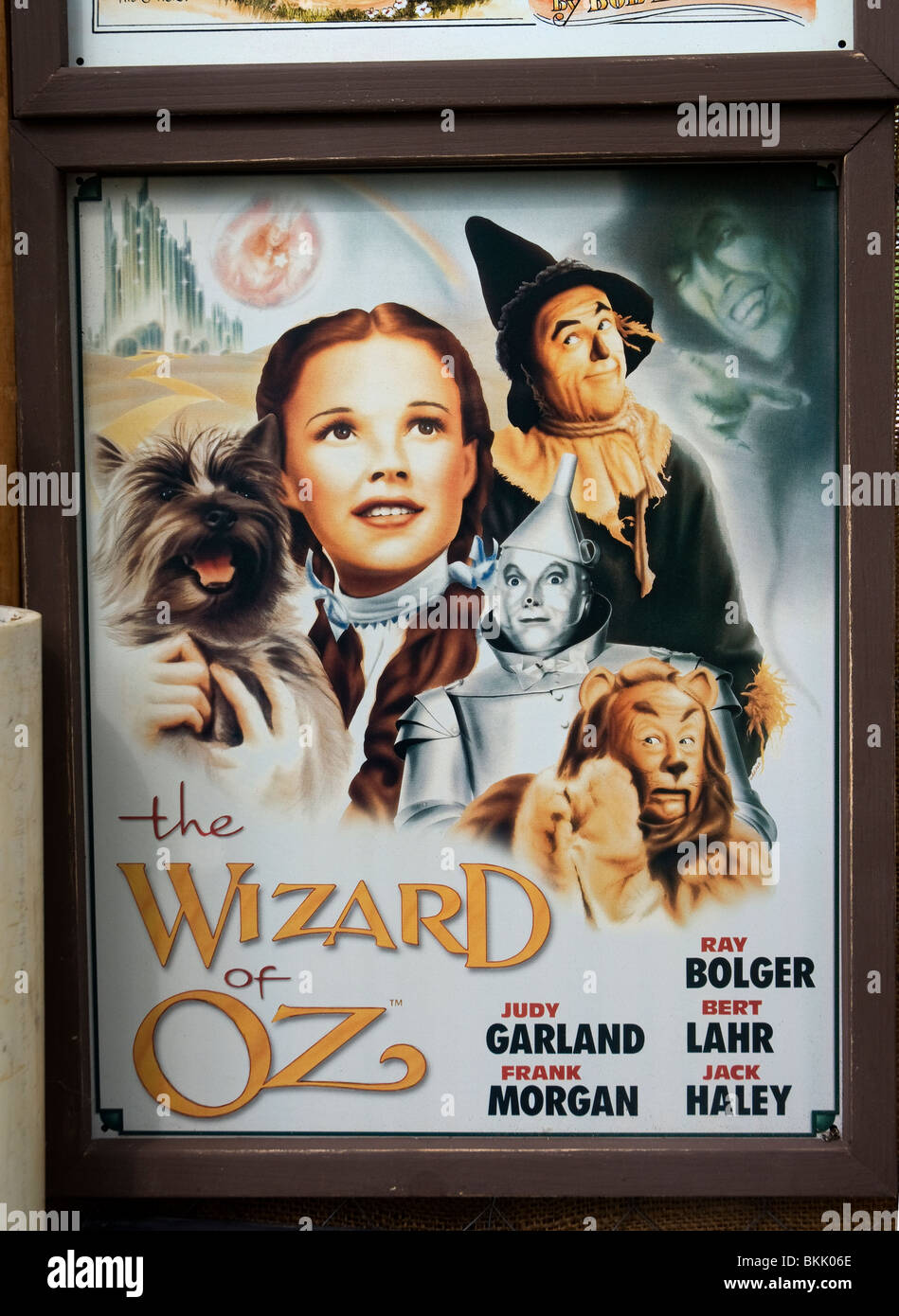 Pioneer Days High Springs Florida booth selling items depicting Americana the Wizard of Oz movie poster - Stock Image