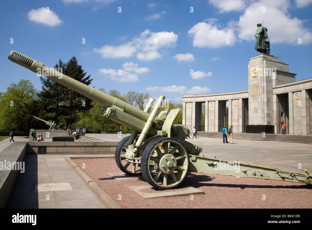 Soviet Memorial, Tiergarten, Berlin, Germany - Stock Image