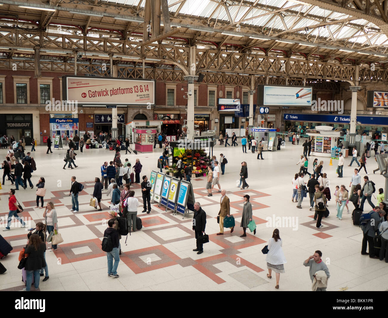 Victoria station In London - Stock Image