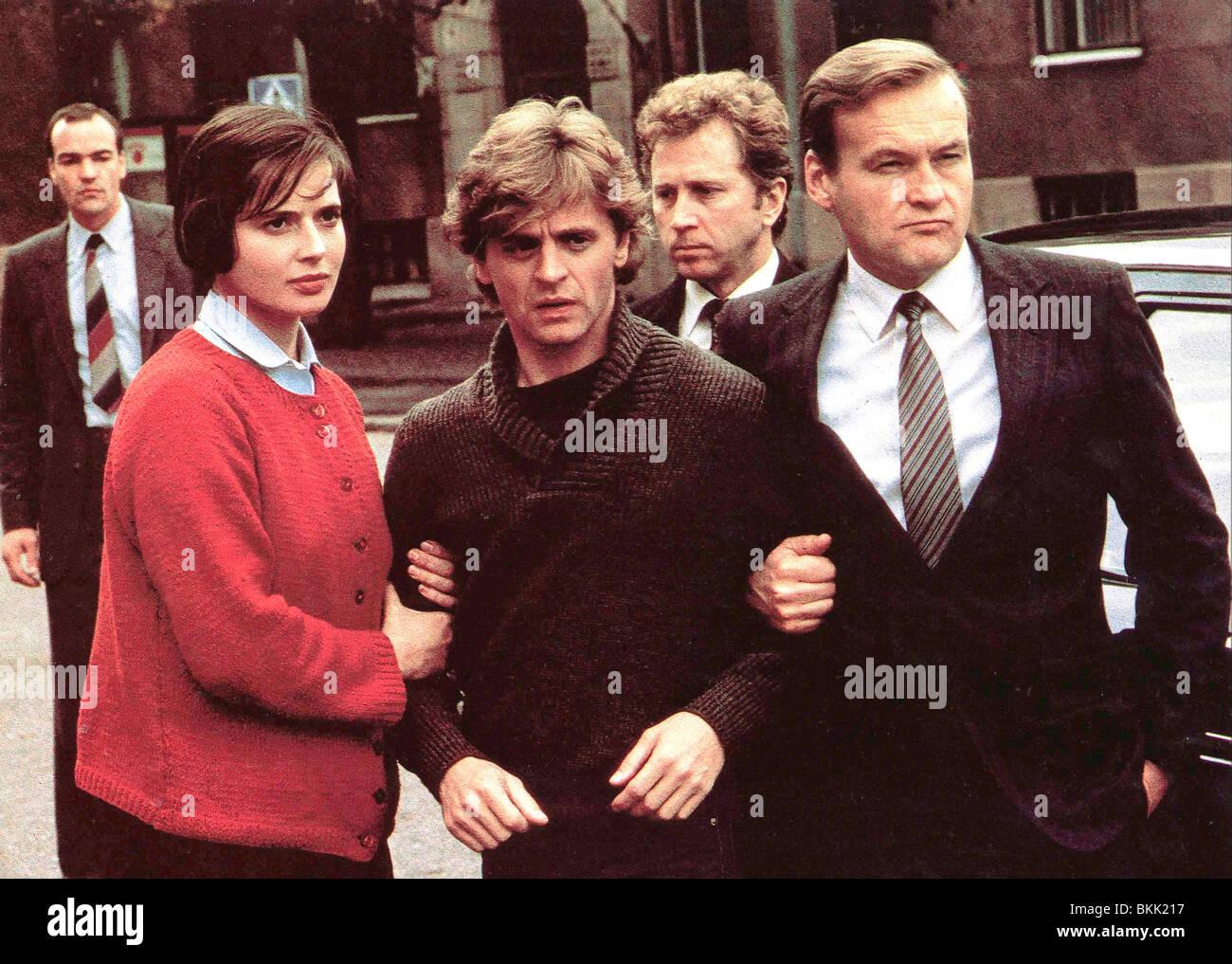 WHITE NIGHTS (1985) ISABELLA ROSSELLINI, MIKHAIL BARYSHNIKOV, JERZY SKOLIMOWSKI WHN 012 FOH - Stock Image