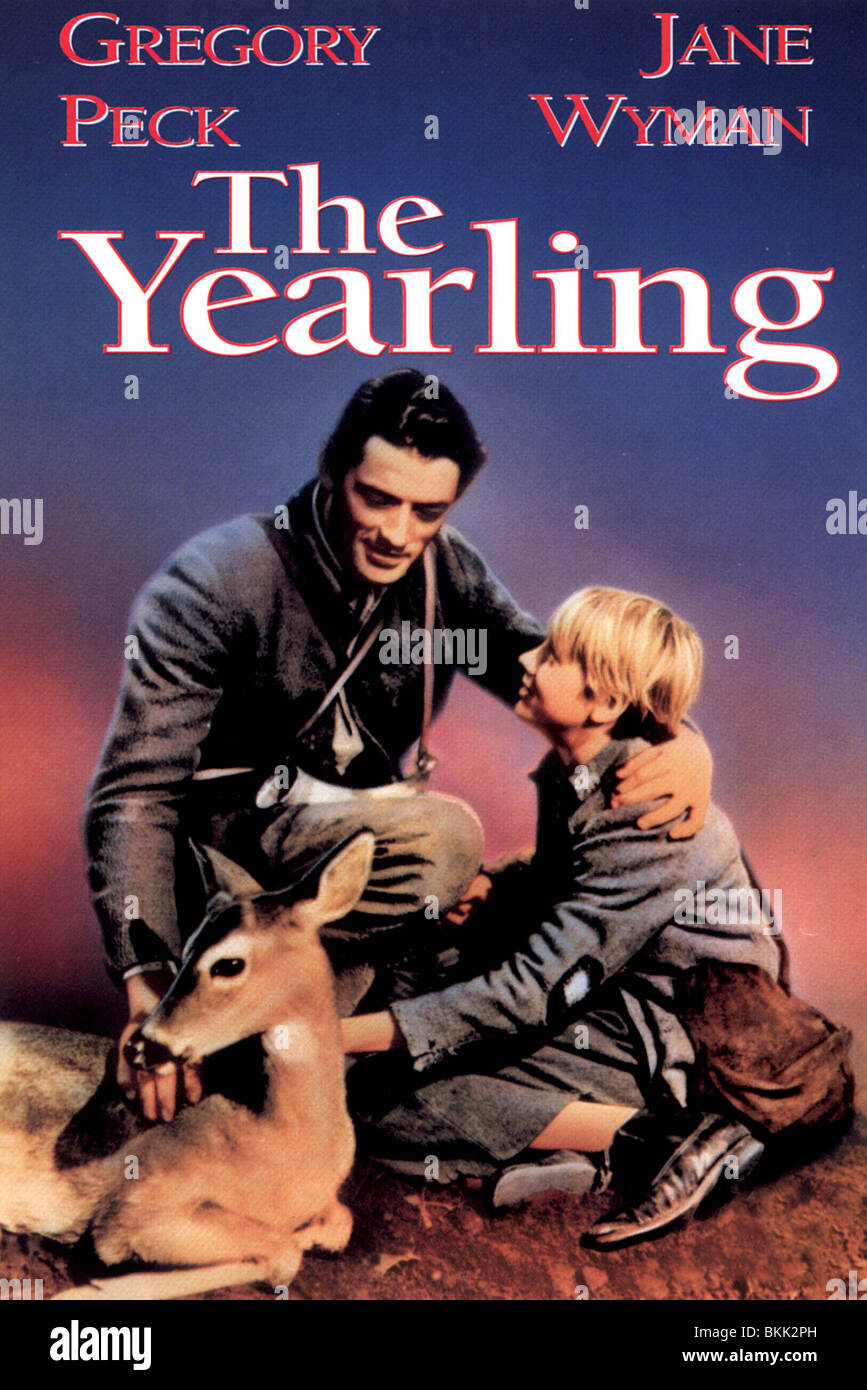 THE YEARLING -1946 POSTER - Stock Image
