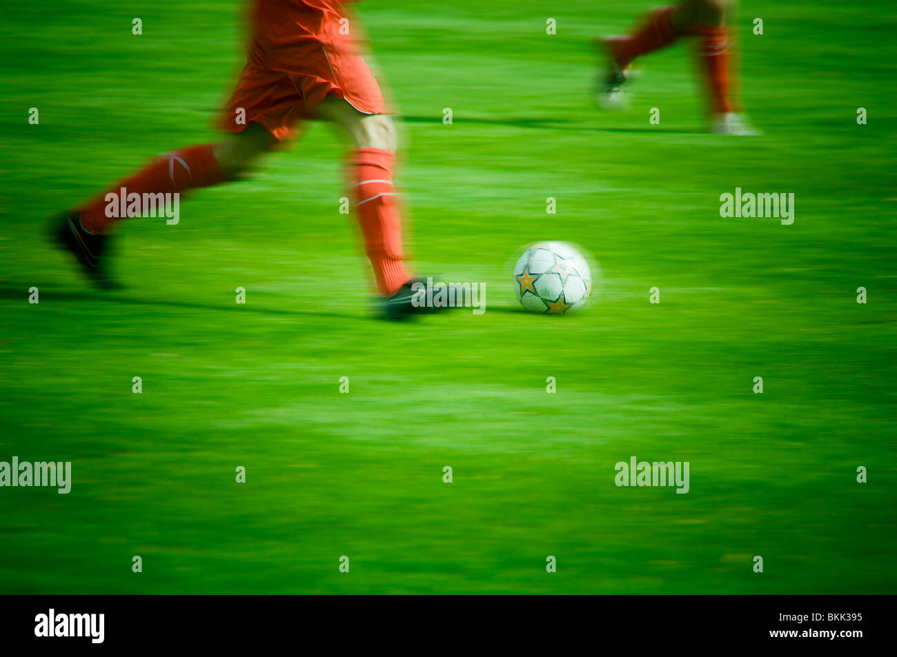 soccer players legs - Stock Image