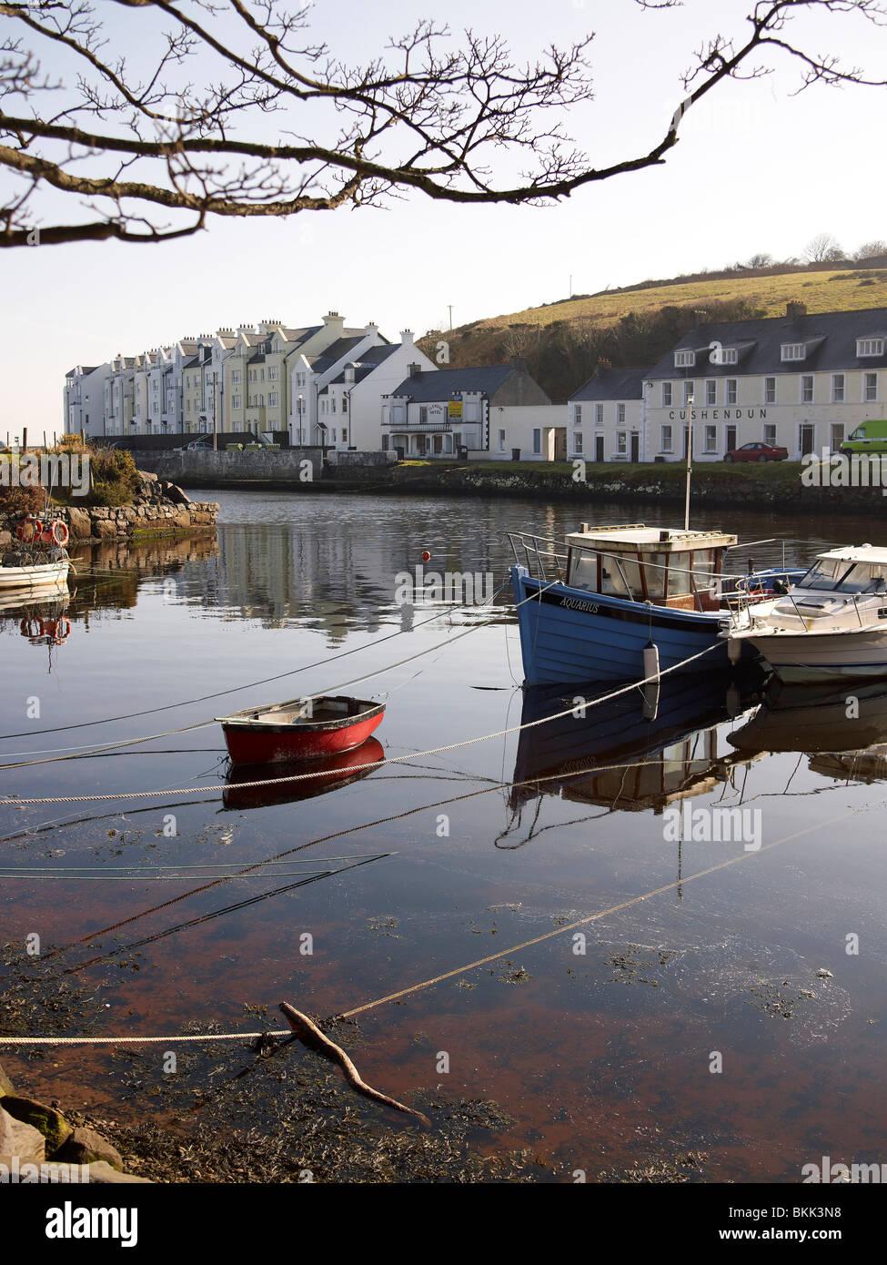 Cushenden Harbour, County Antrim, Northern Ireland - Stock Image