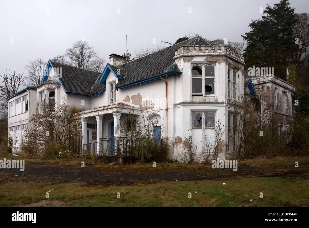 The Derelict Former Finnartmore Convalescent Home Kilmun Argyll - Stock Image