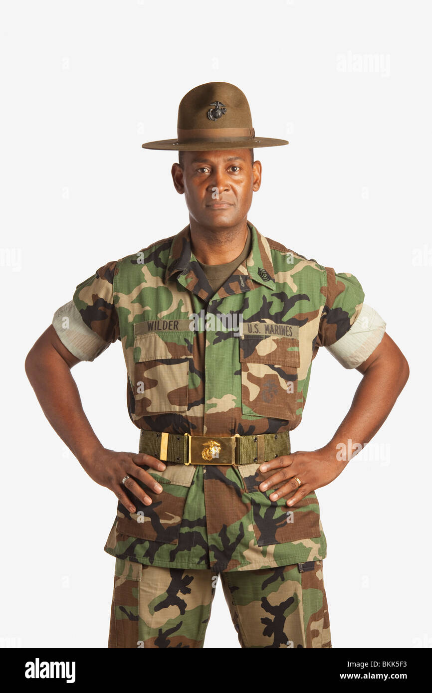 A Military Man - Stock Image