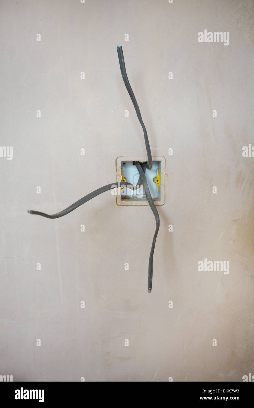 loose wires from a switch box Stock Photo: 29312111 - Alamy on