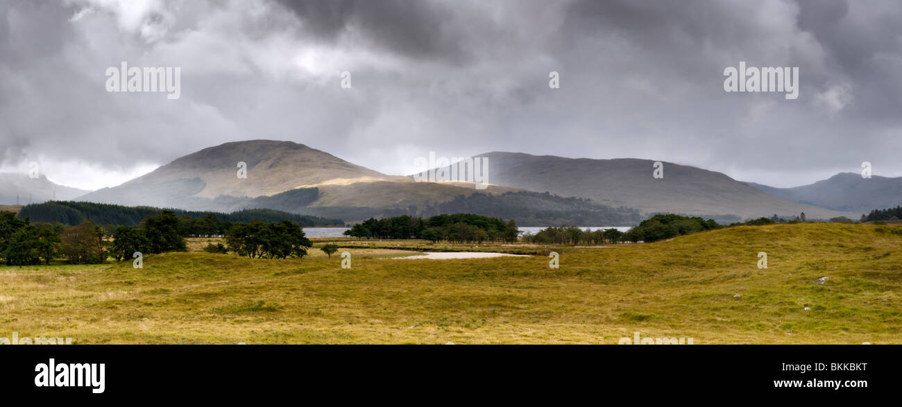 Blackmount area of Glencoe, Strafthclyde region, Argyll and Bute District, Scotland, with Loch Tulla just visible - Stock Image