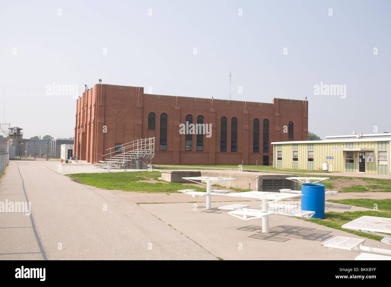 Chapel building inside the Nebraska State Penitentiary. - Stock Image